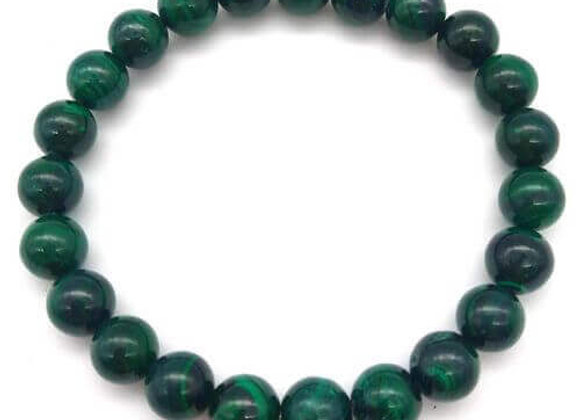 Bracelet Pierre Malachite Dark Green  / 8 mm Chine