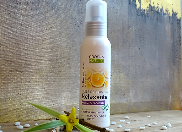 Huile de Soin Relaxante Bio aux /  4 huiles essentielles /100 ml