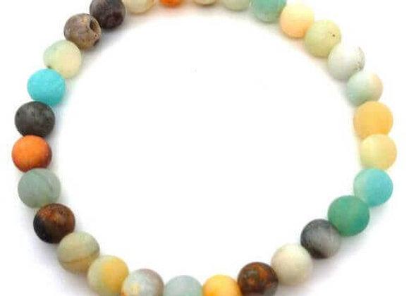 Bracelet Pierre Amazonite Naturelle / Perle 8 mm Chine