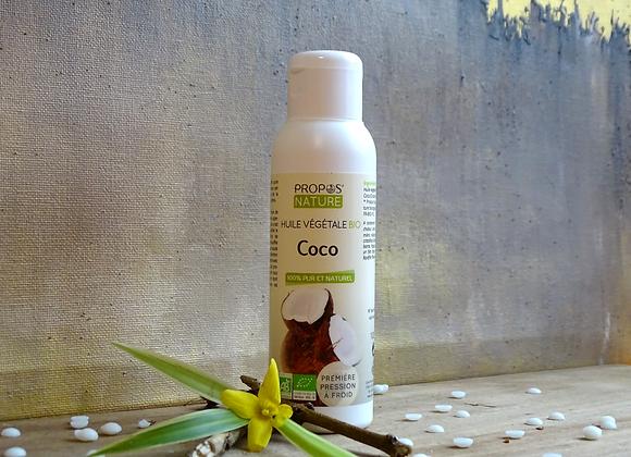 Huile Végétale de Coco Bio / Coco Nucifera / 100 ml