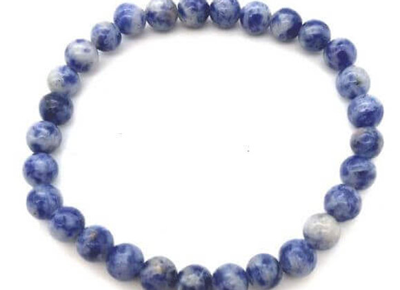 Bracelet Pierre Sodalite Naturelle / Perles 6 mm Chine