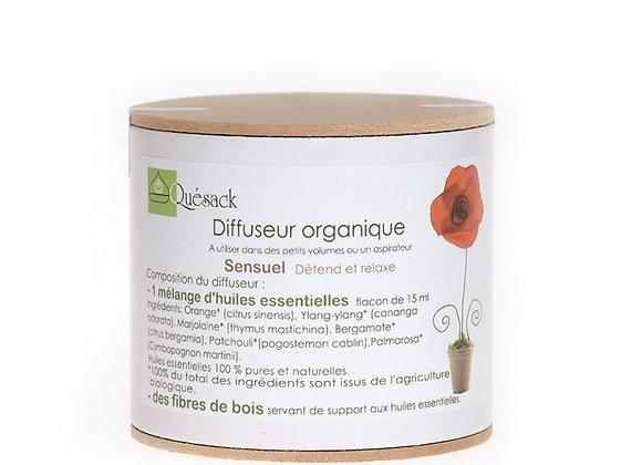 Diffuseur organique Sensuel / Fibres Bois + Huiles Essentielles Naturelles