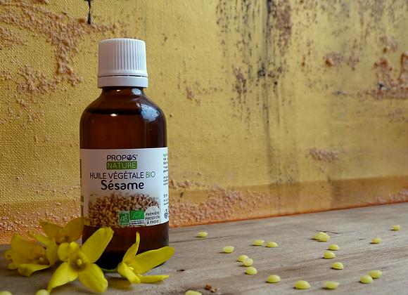 Huile Végétale de Sésame Bio / Sesamum Indicum /50 ml