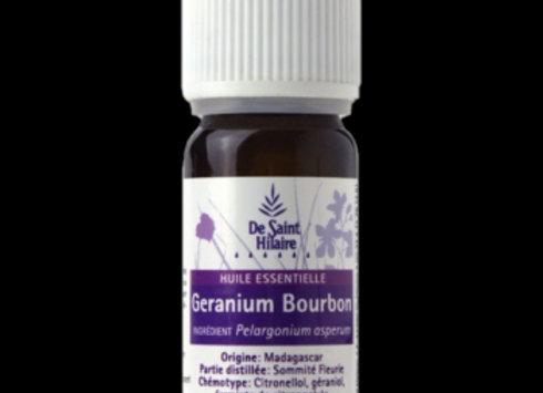 Géranium Type Bourbon Bio  / Pelargonium Graveolens  / 10 ml
