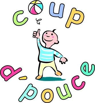 Logo de l'association Coup d'Pouce, venant en aide aux enfants atteints d'un cancer en Bourgogne