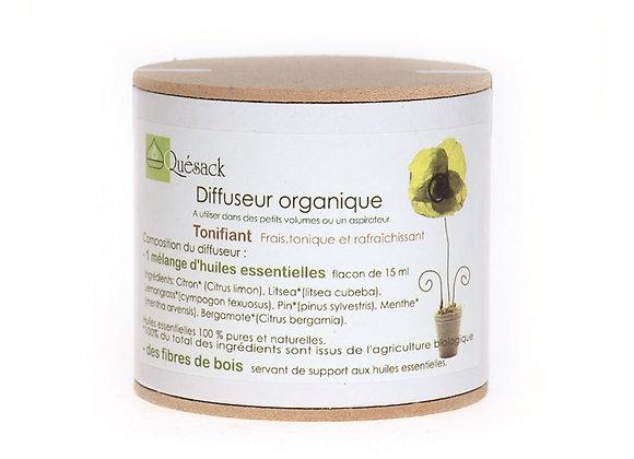 Diffuseur organique Tonifiant / Fibres Bois + Huiles Essentielles Naturelles
