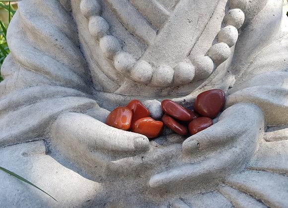Pierre Roulée Jaspe Rouge Naturel / 1 pierre
