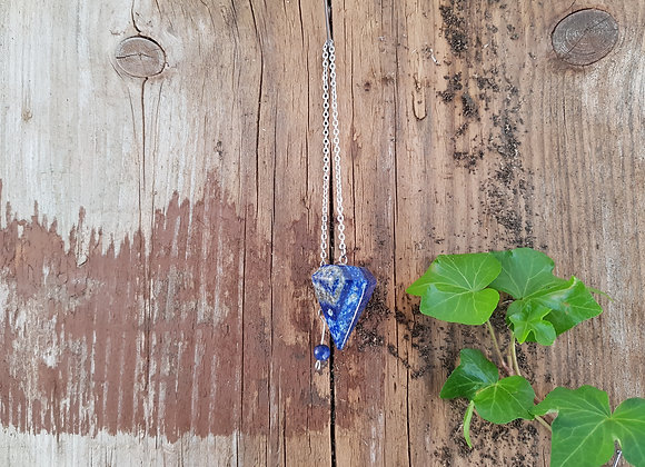 Pendule Conique Lapis Lazuli Naturel / Provenance Chine