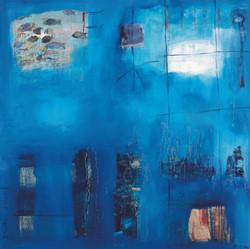 Deep Blue Dive 80 x 80cm