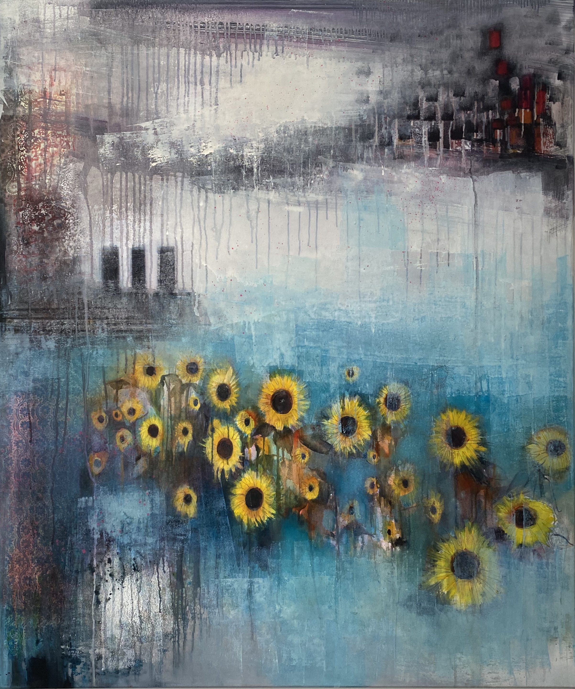 SOLD* Sunflower Sunshine £1250 *