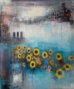 SOLD* Sunflower Sunshine £1250 *