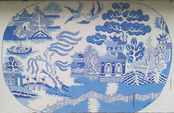 Mock Turtle Willow Pattern mural -oldest commission 1993!