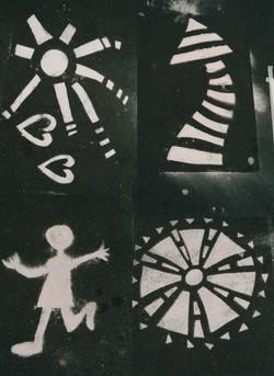 Beating Time 2000 flour stencils