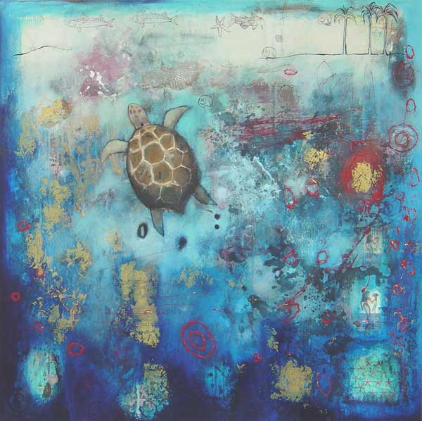 Red Sea Turtle 90 x 90cm