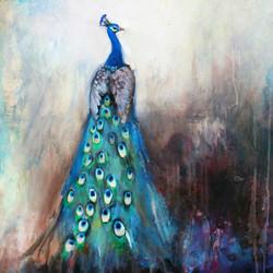Peacock Blue detail