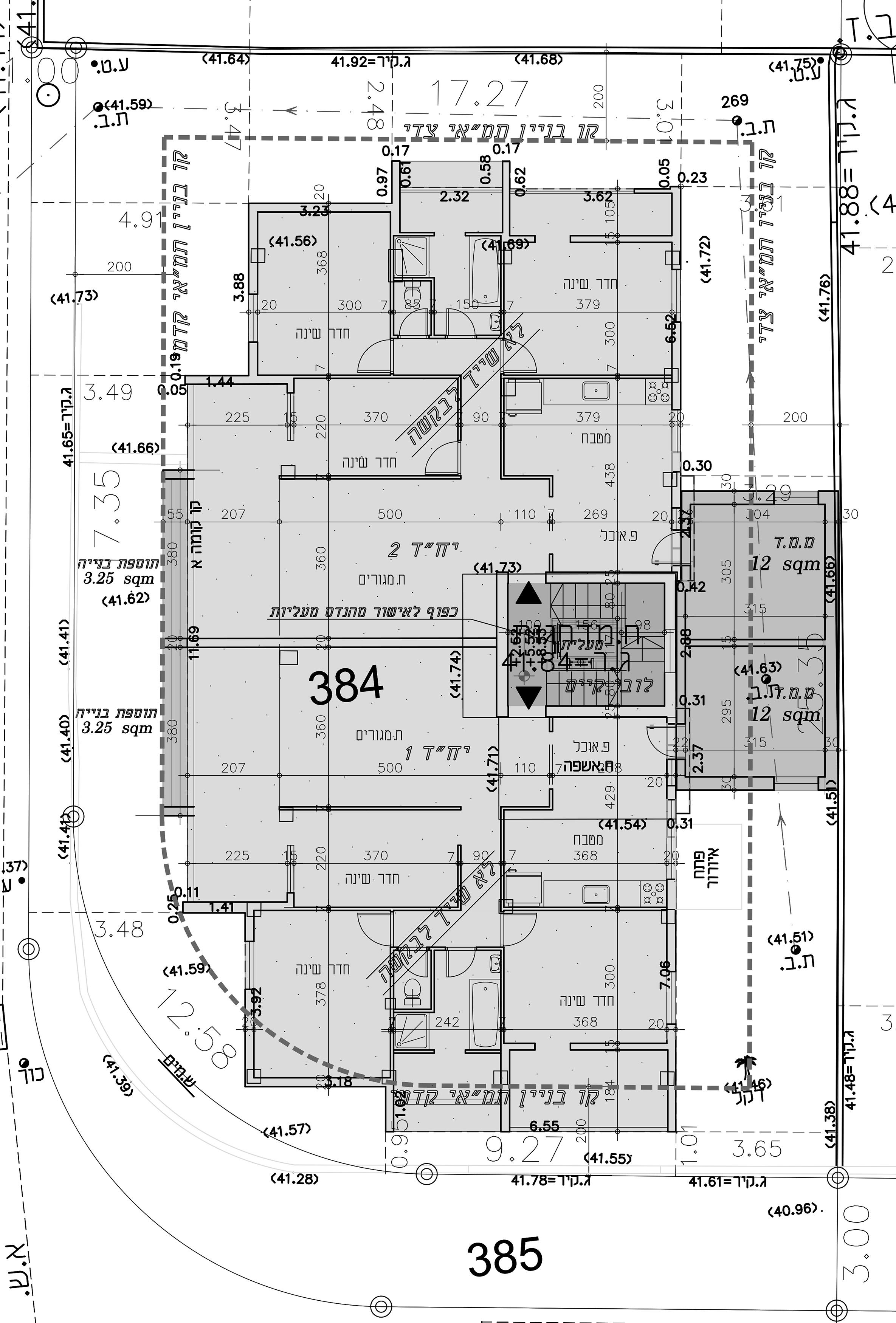 רמת גן - משה דיין 25 - קומה טיפוסית