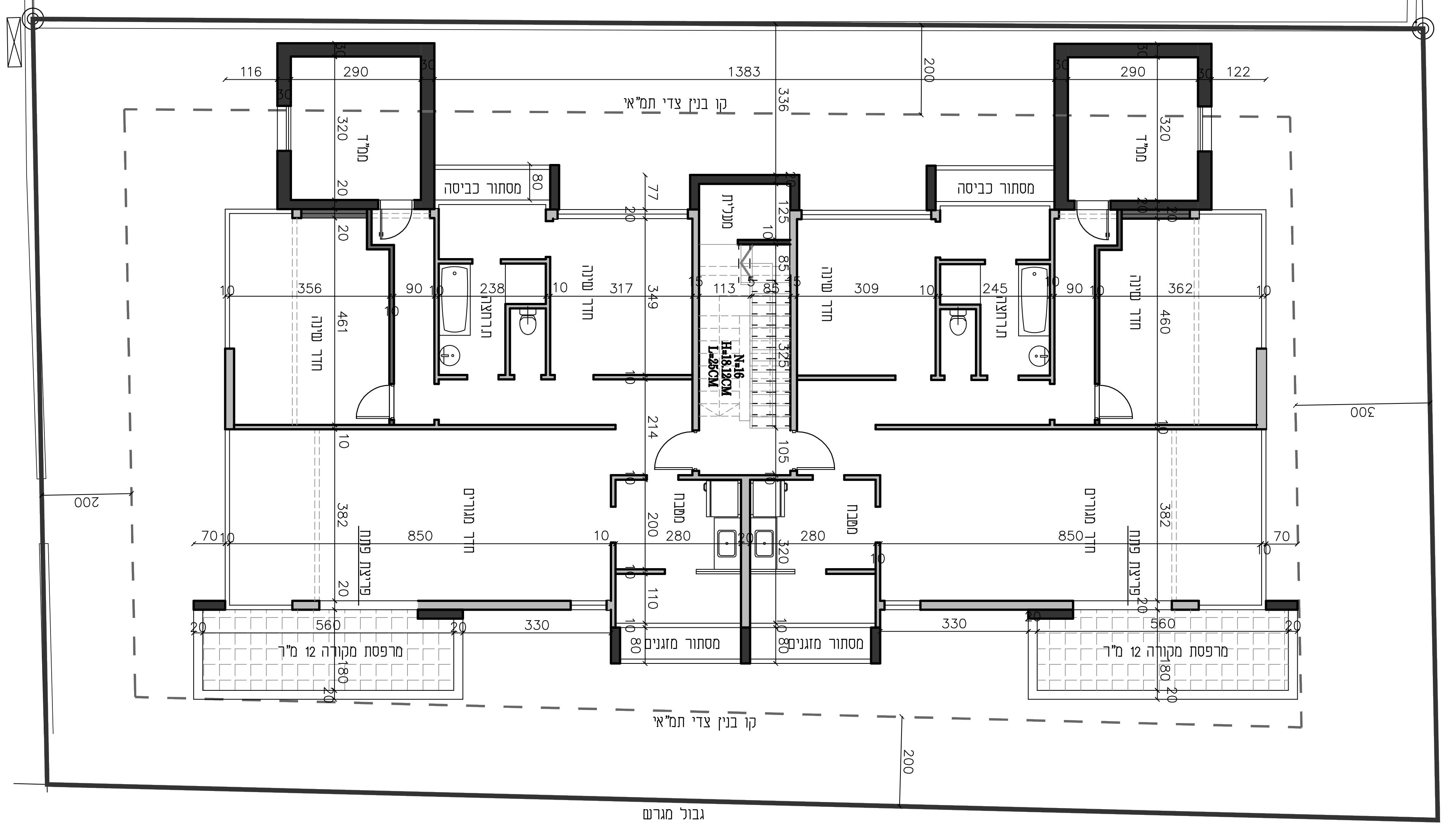 הרצליה - סירקין 7 -קומה טיפוסית  ב