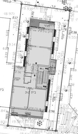 תל אביב - נורדאו 33 - קומה טיפוסית
