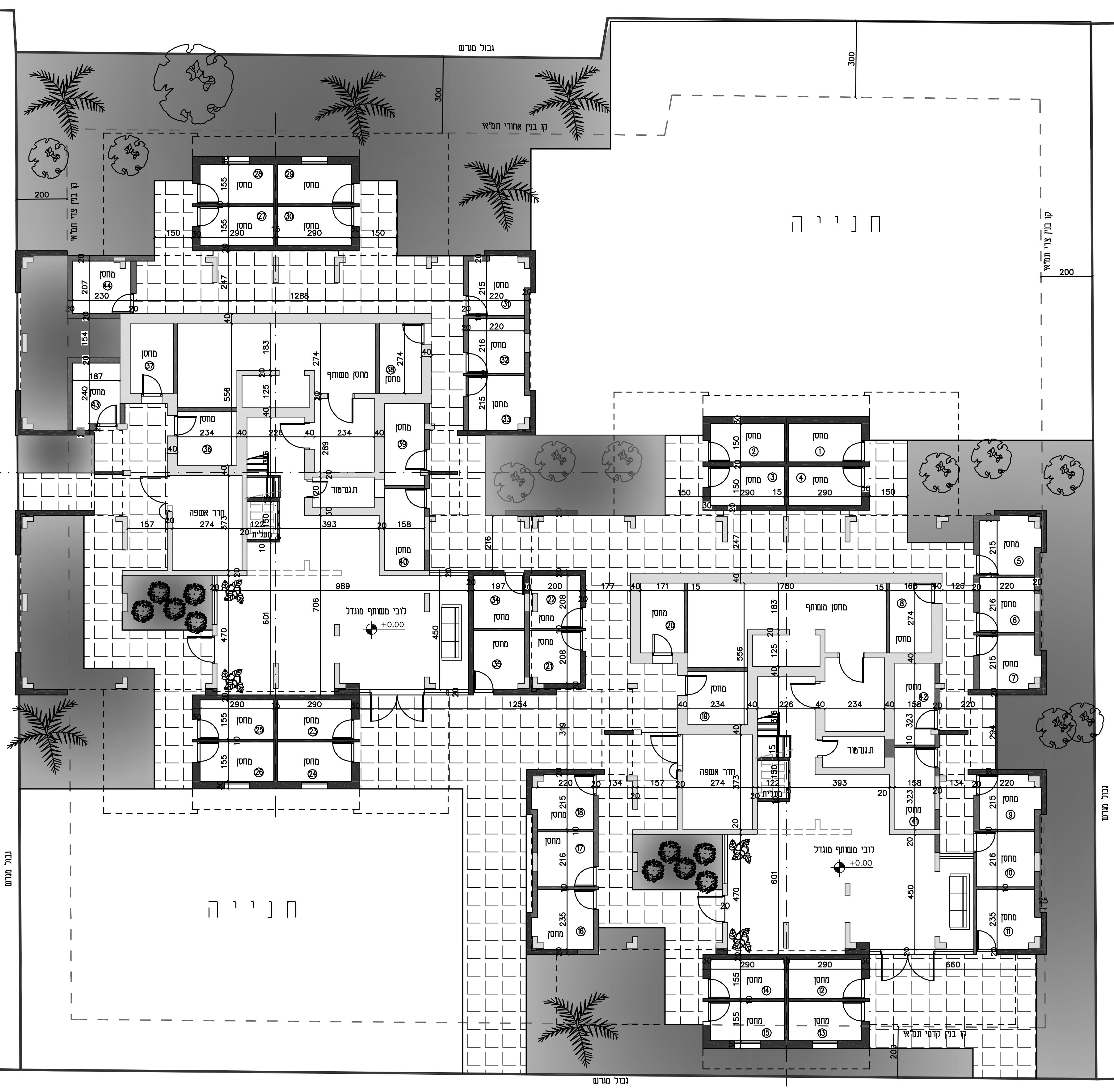 הרצליה - עזרא הסופר 9-11 - קומת קרקע