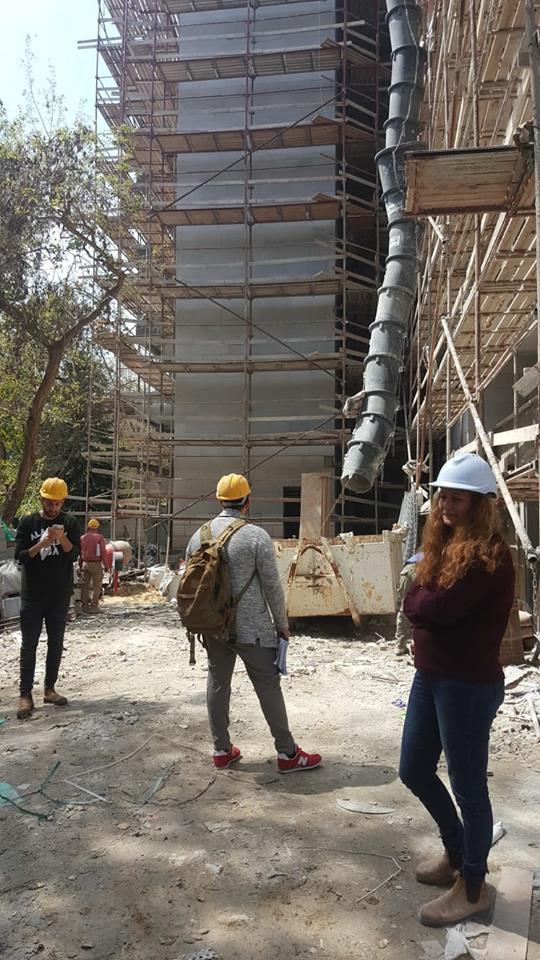 28.3.19 אתר הבנייה עם צוות המשרד