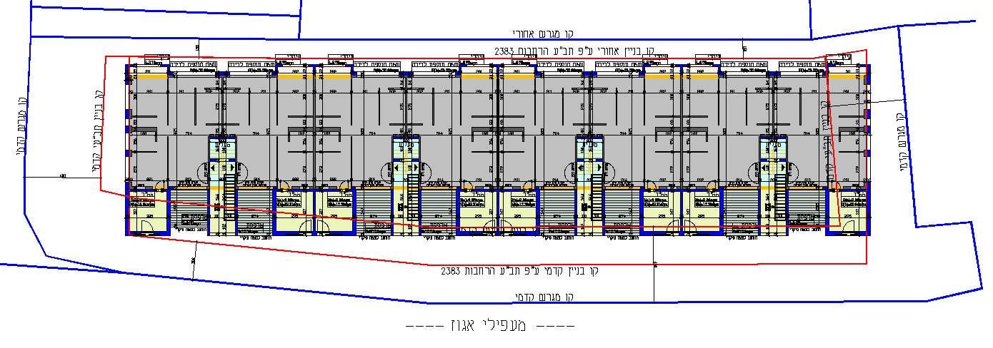 מעפילי אגוז 61-67 קומה טיפוסית