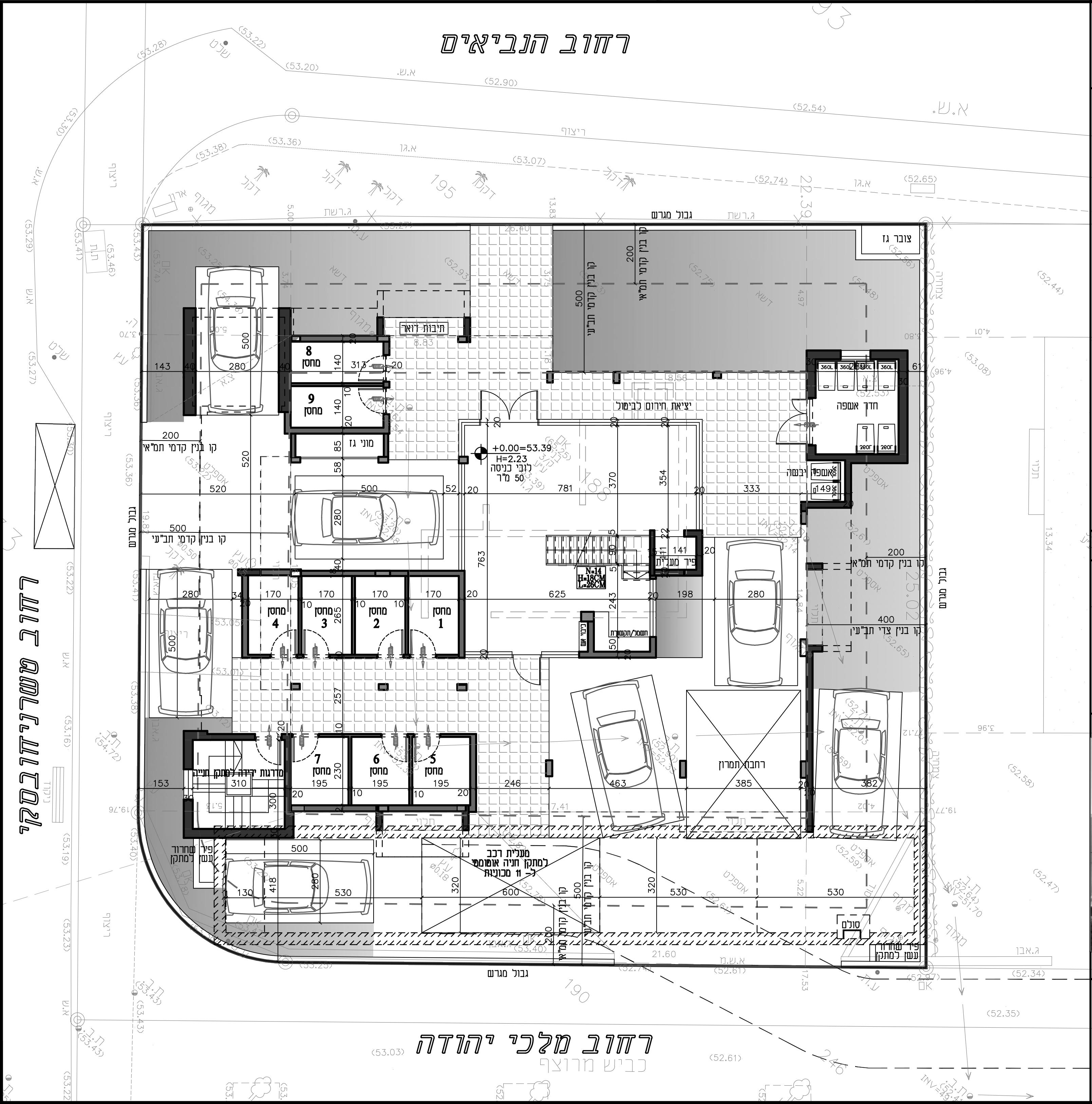 הרצליה - טשרניחובסקי 10 - תכנית קרקע