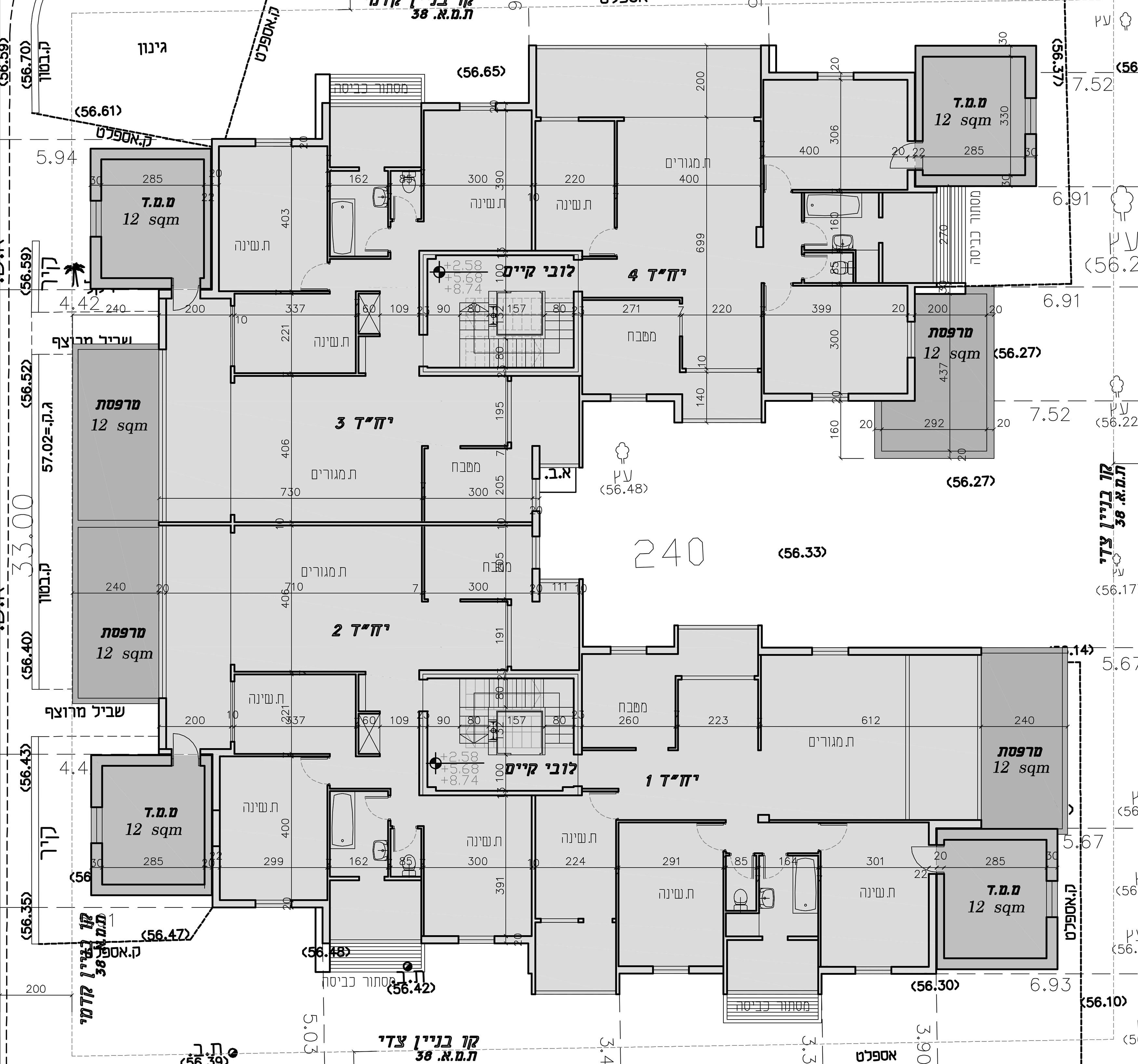 הרצליה - מגיני נגבה 4 - קומה טיפוסית