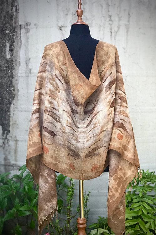 Wool Wrap with Tassels