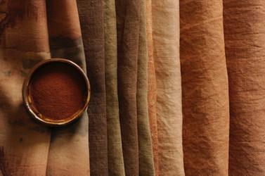 Different tones of kakishibu browns