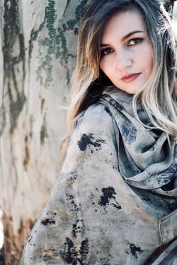 Crepe De Chine silk shawl