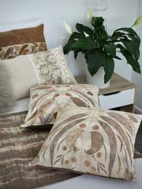 Eco dyed natural fibre cushion covers