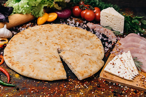 Осетинский пирог с курочкой,сыром и грибами