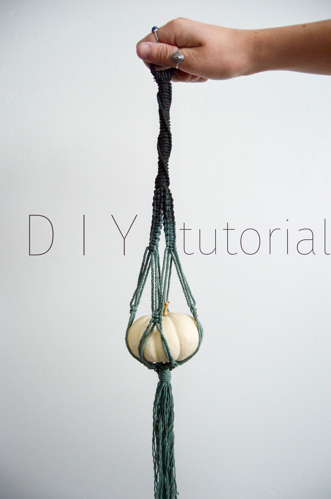 DIY Macrame Pumpkin Hanging Tutorial