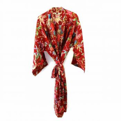 KIMONO ROYAL PARADISE rood van Imbarro