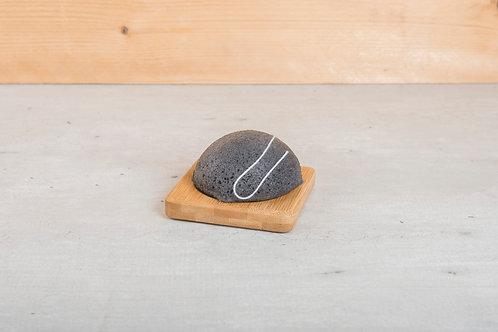 Konjac charcoal 100% natuurlijke Spons – (Vette huid)
