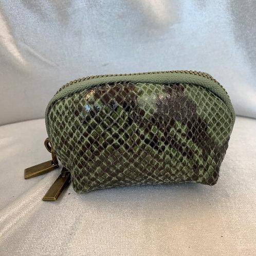 Mini snake purse GROEN