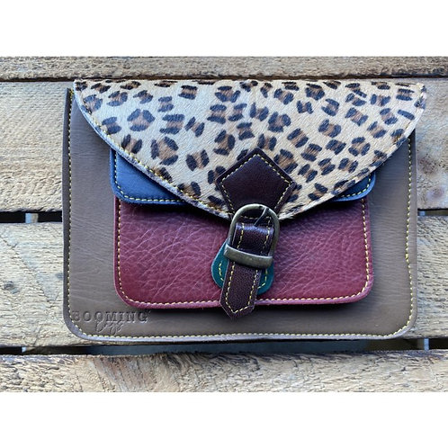Cross-over bag TAUPE/ROODBRUIN