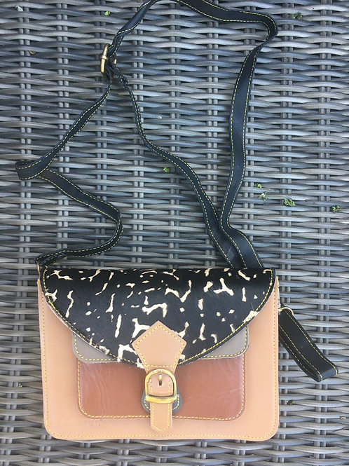 Cross-over bag NATUREL/BRUIN