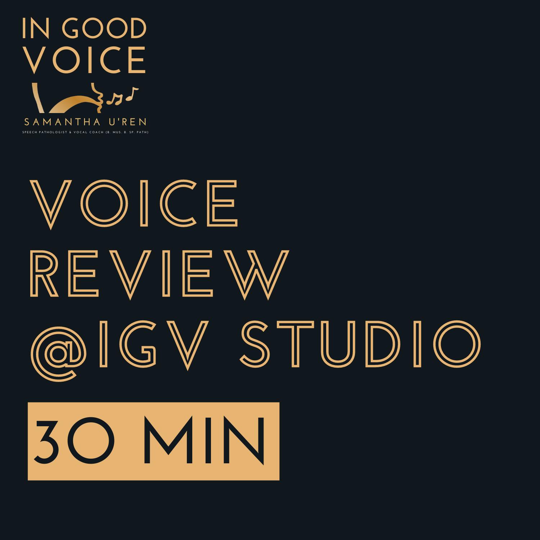 Voice Review IGV Studio