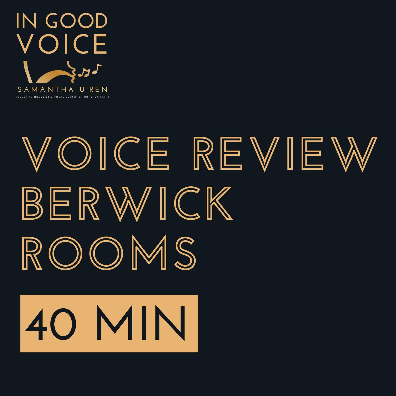 Voice Review Berwick Rooms