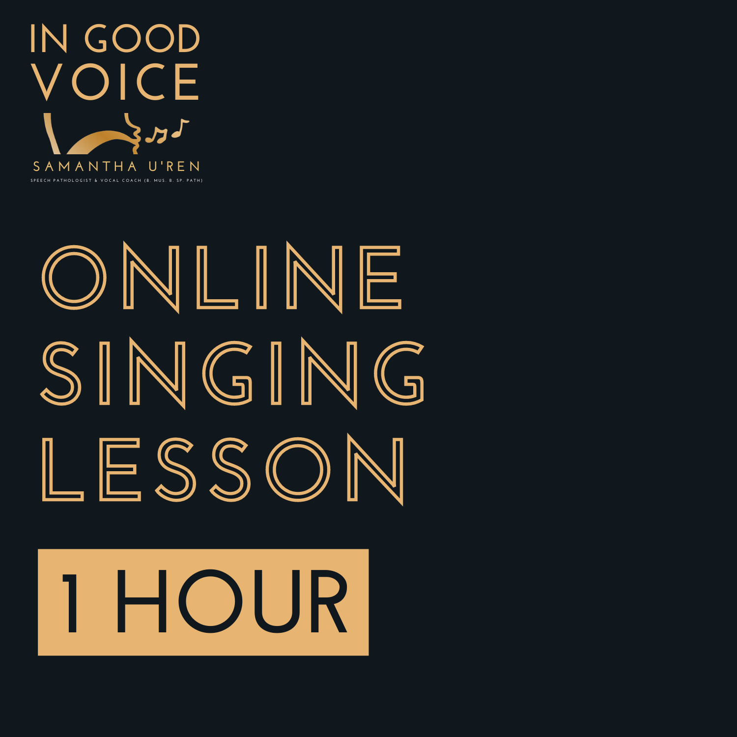 Online 1 hour Singing Lesson