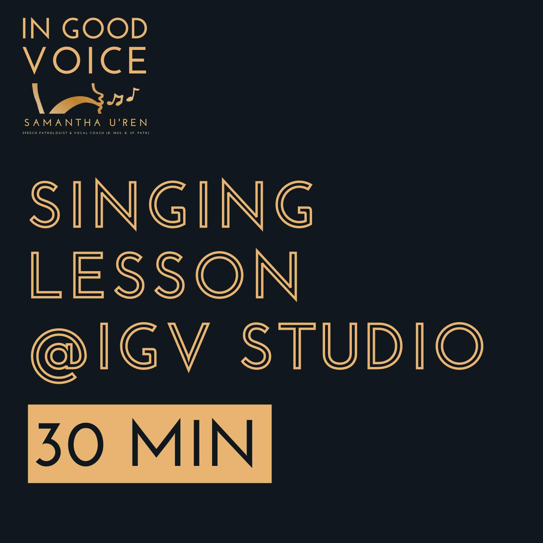 30 min lesson @IGV studios