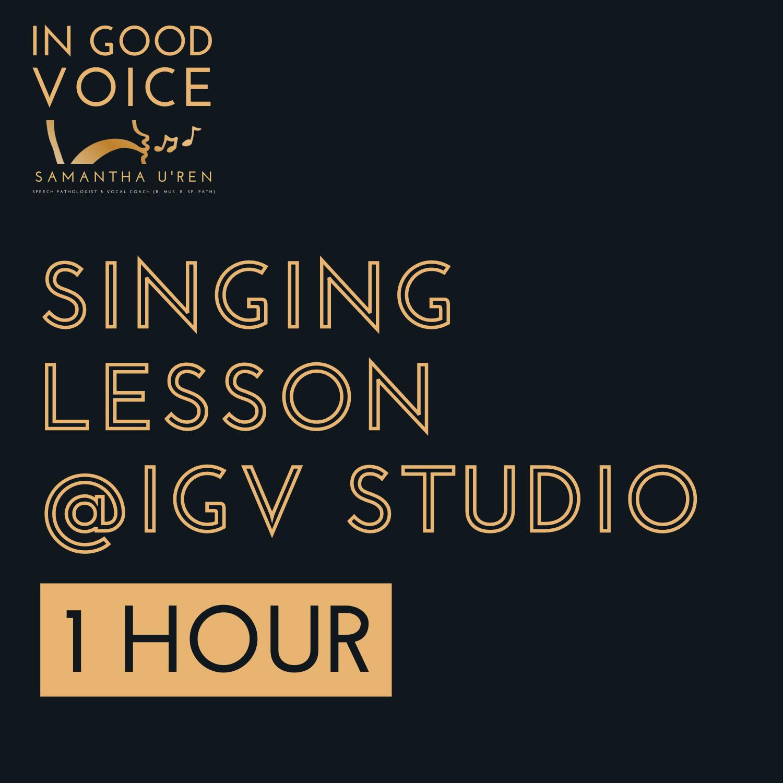Singing Lesson @IGV Studio