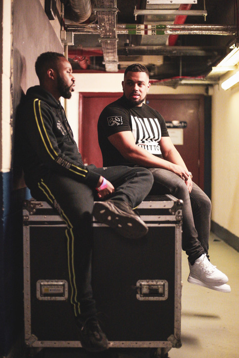 Backstage before Blade Brown's headline show