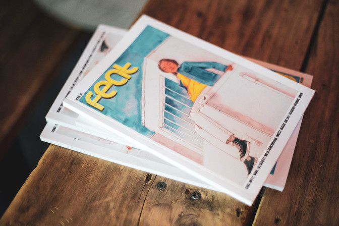 Feat Mag Issue 1 on sale at their launch party.