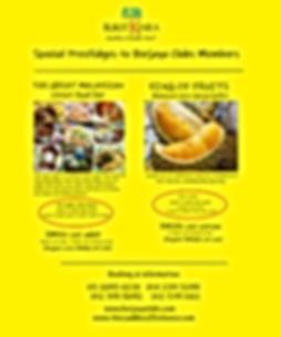 Street Food Fair & durian buffet poster