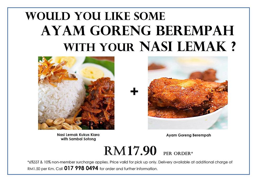 Would you like some Ayam Goreng with your nasi lemak.jpg