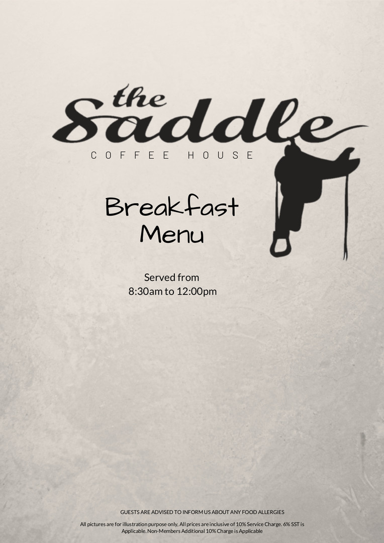 Breakfast bSaddle Coffee House Menu 2020