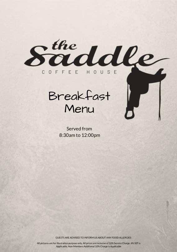 Breakfast bSaddle Coffee House Menu 2020
