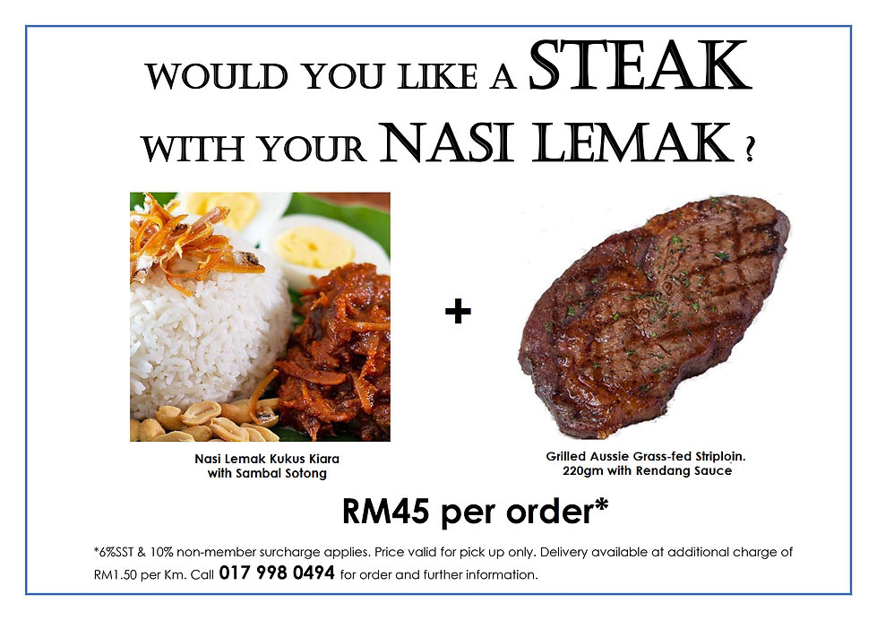 Would you like a steak with your nasi le